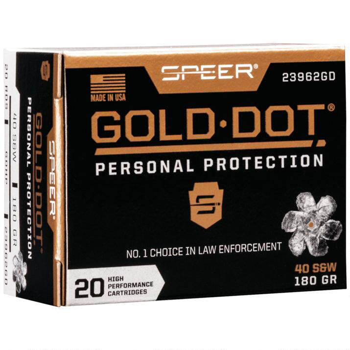 Speer Gold Dot Personal Protection Ammo, .40 S & W