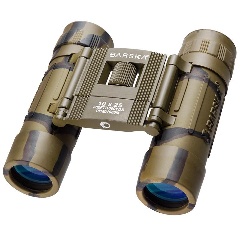 Barska Lucid View 10x25mm Compact Binoculars, Camo