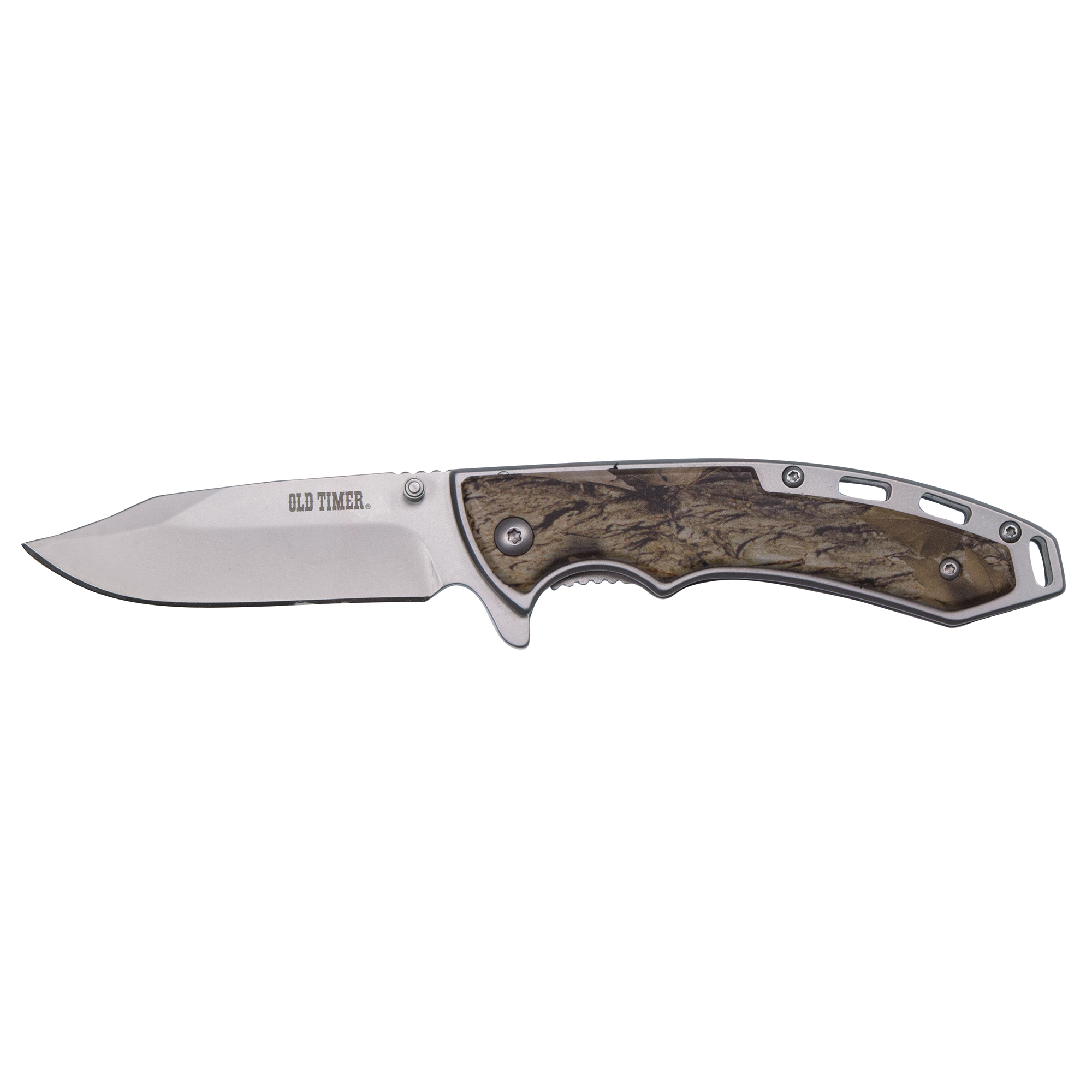 Old Timer Snowblind Camo Clip Folding Knife