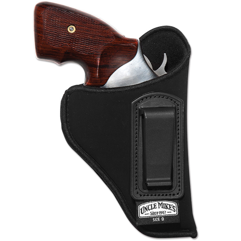 Uncle Mike's Inside the Waistband Holster with Retention Strap, 3-1/4″ – 3-3/4″