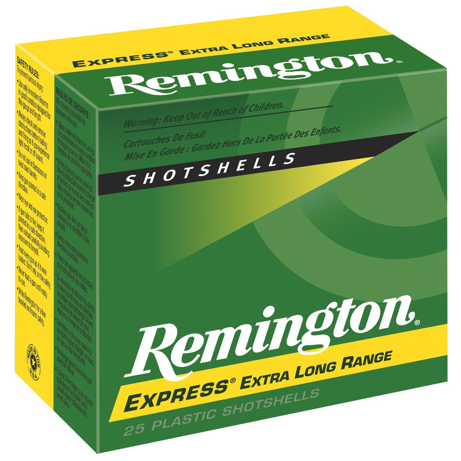 "Remington Express Long Range Shotshells, .410 Bore, 3"", #4, 6, 7.5"