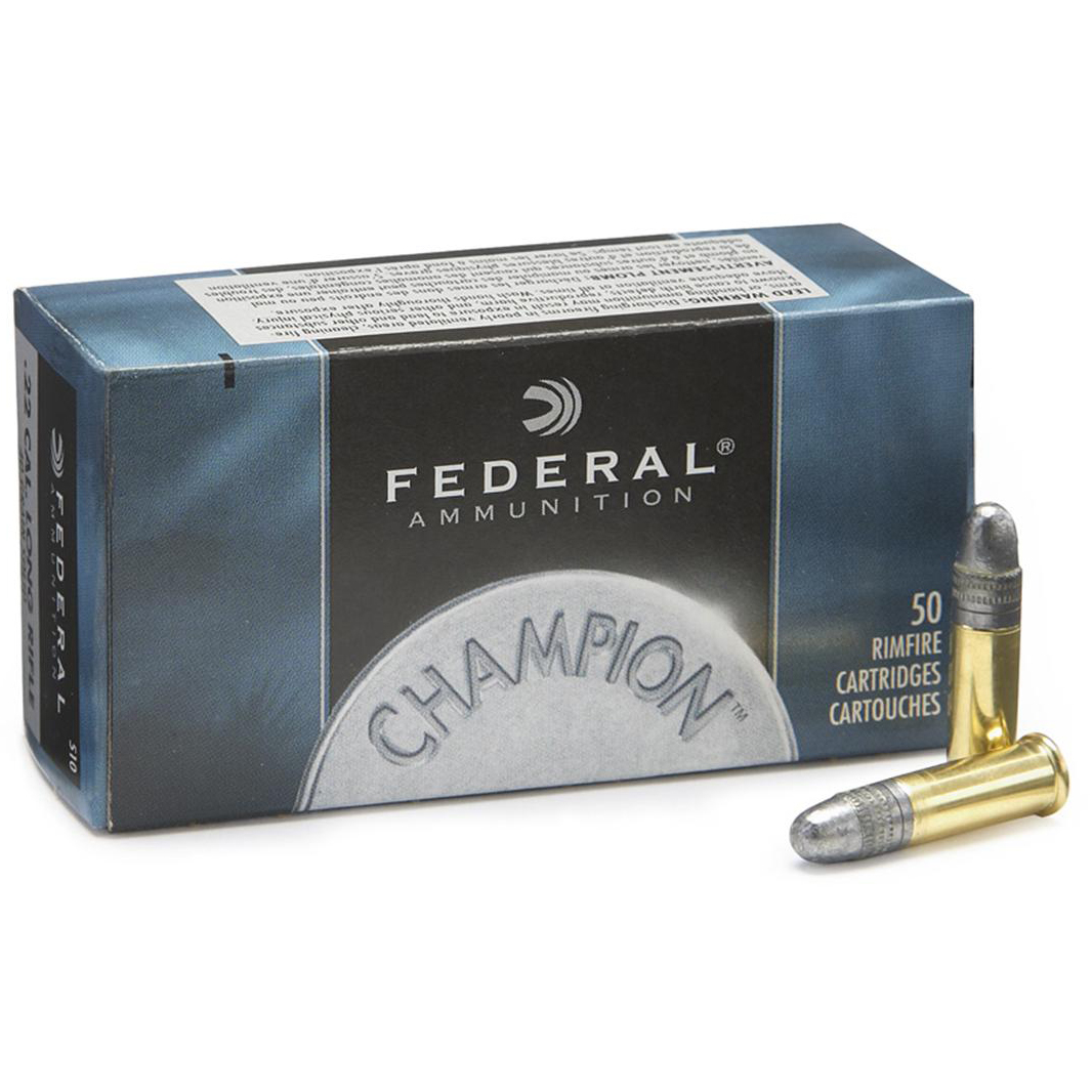 Federal Premium Champion Target Ammo, .22 LR, 40-gr, LRN
