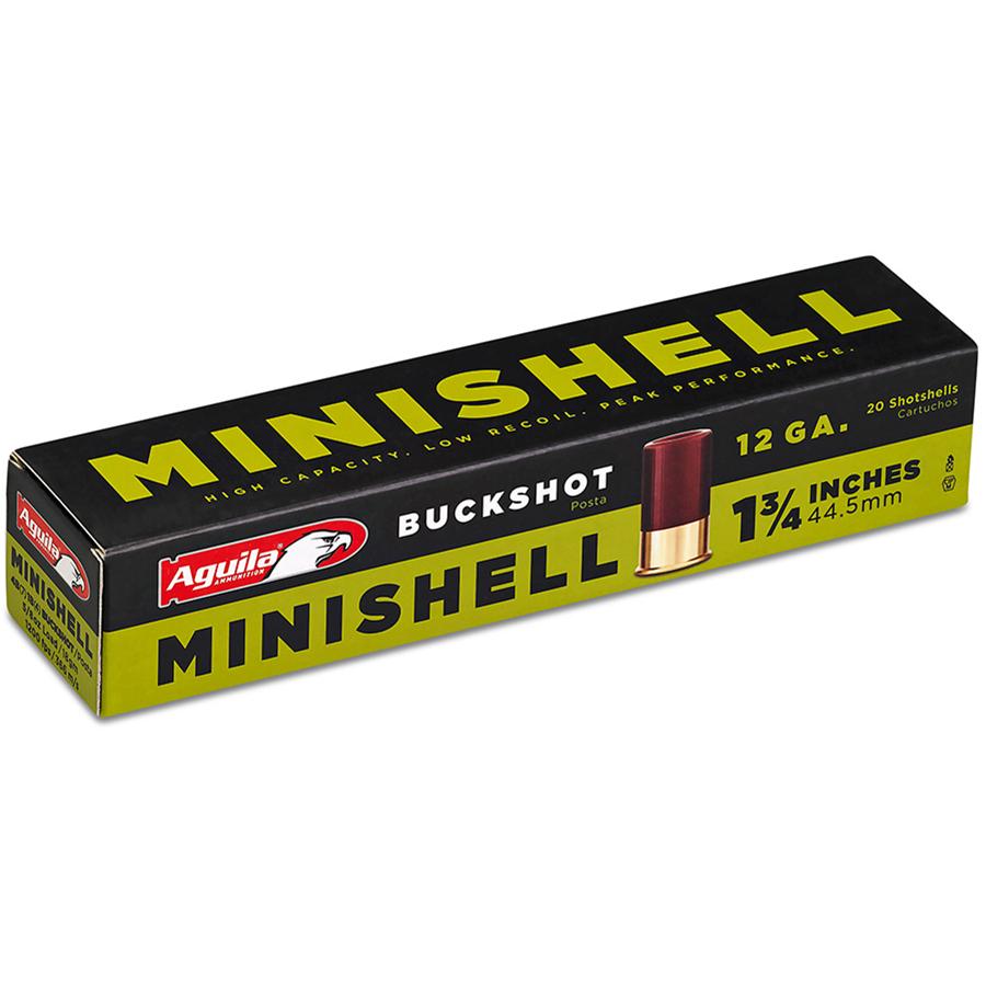 Aguila Minishell Shotshells, 12-ga, 1-3/4″, 5/8-oz, #00B