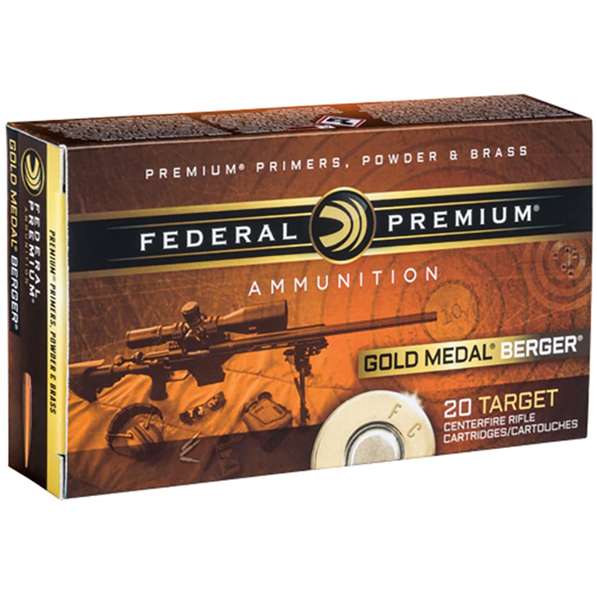 Federal Gold Medal Berger Ammo, 6.5mm Creedmoor, 130-gr, Hybrid OTM