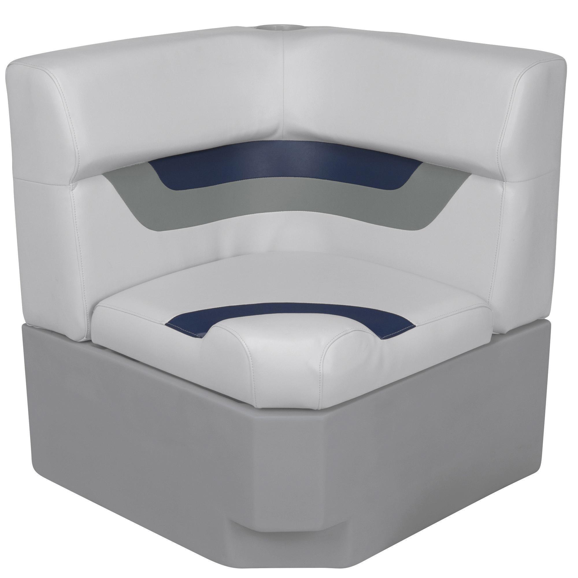 Toonmate Designer Pontoon Corner Section Seat, Sky Gray
