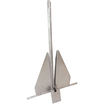 Fluke-Style Galvanized Boat Anchor, 14 lbs.