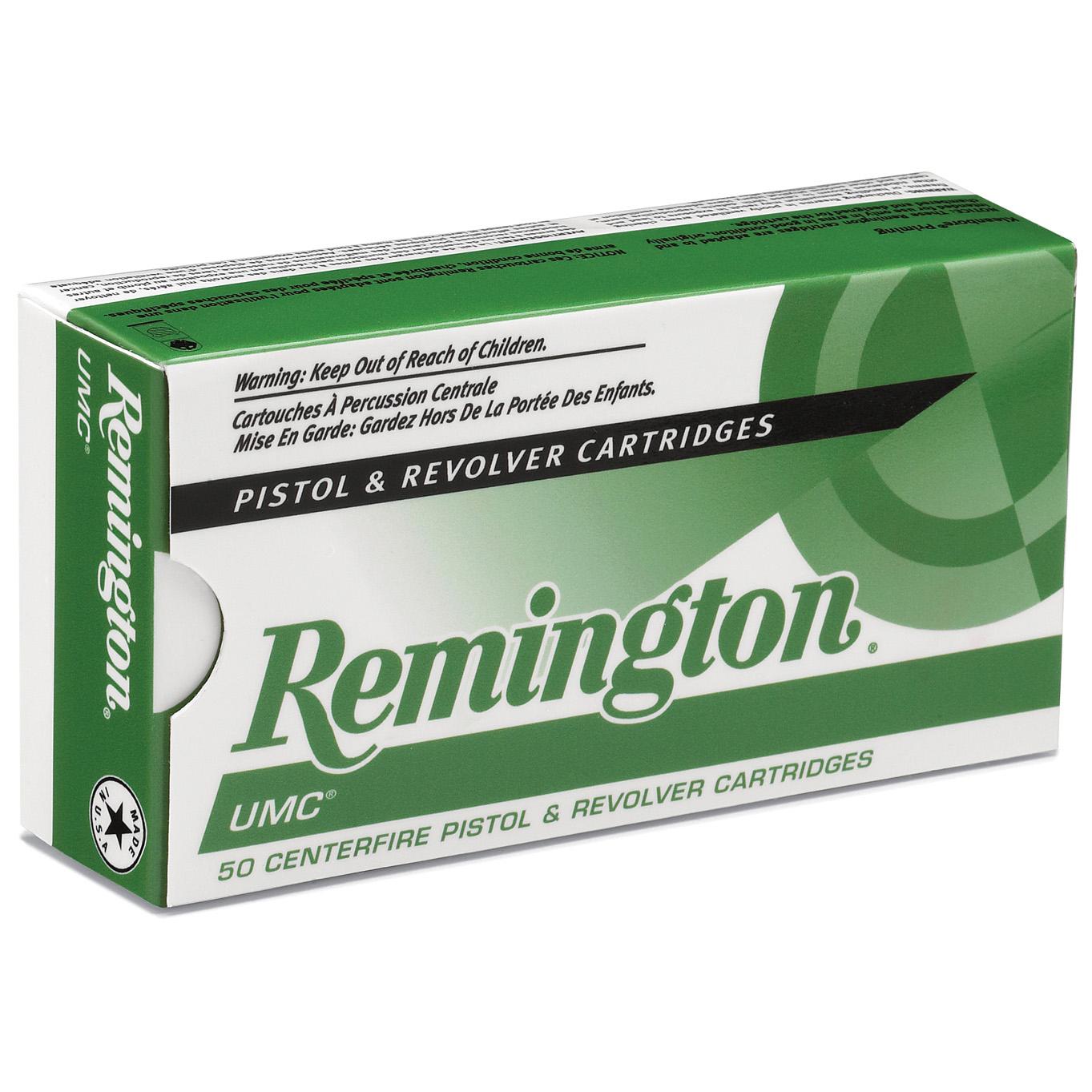 Remington UMC Handgun Ammunition, .38 Special, 130-gr, FMJ, 50 Rounds