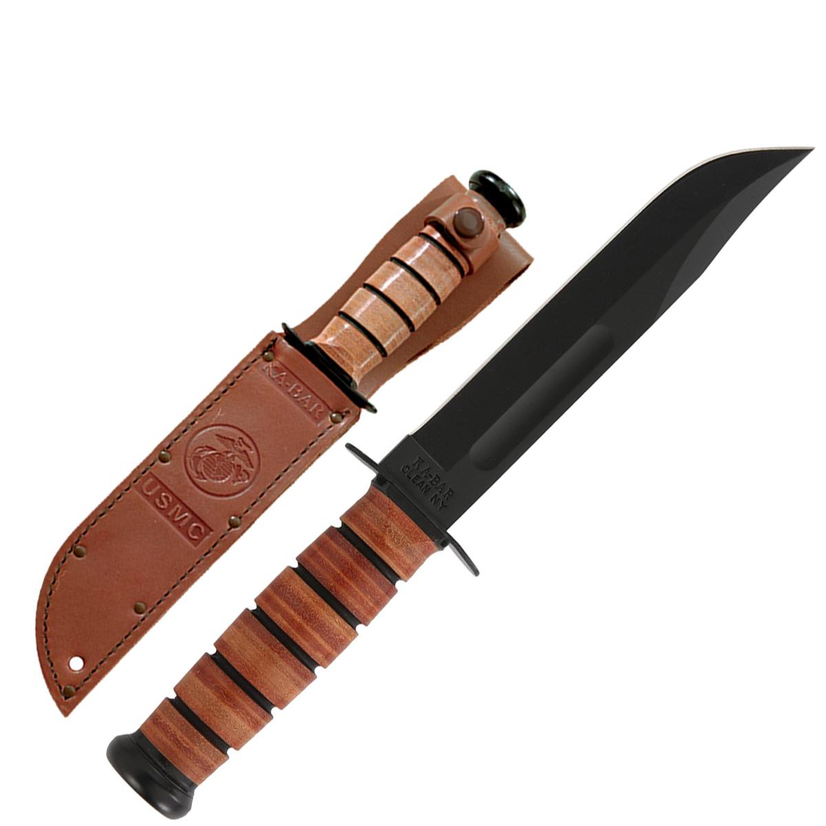 KA-BAR USMC Straight-Edge Fixed-Blade Knife