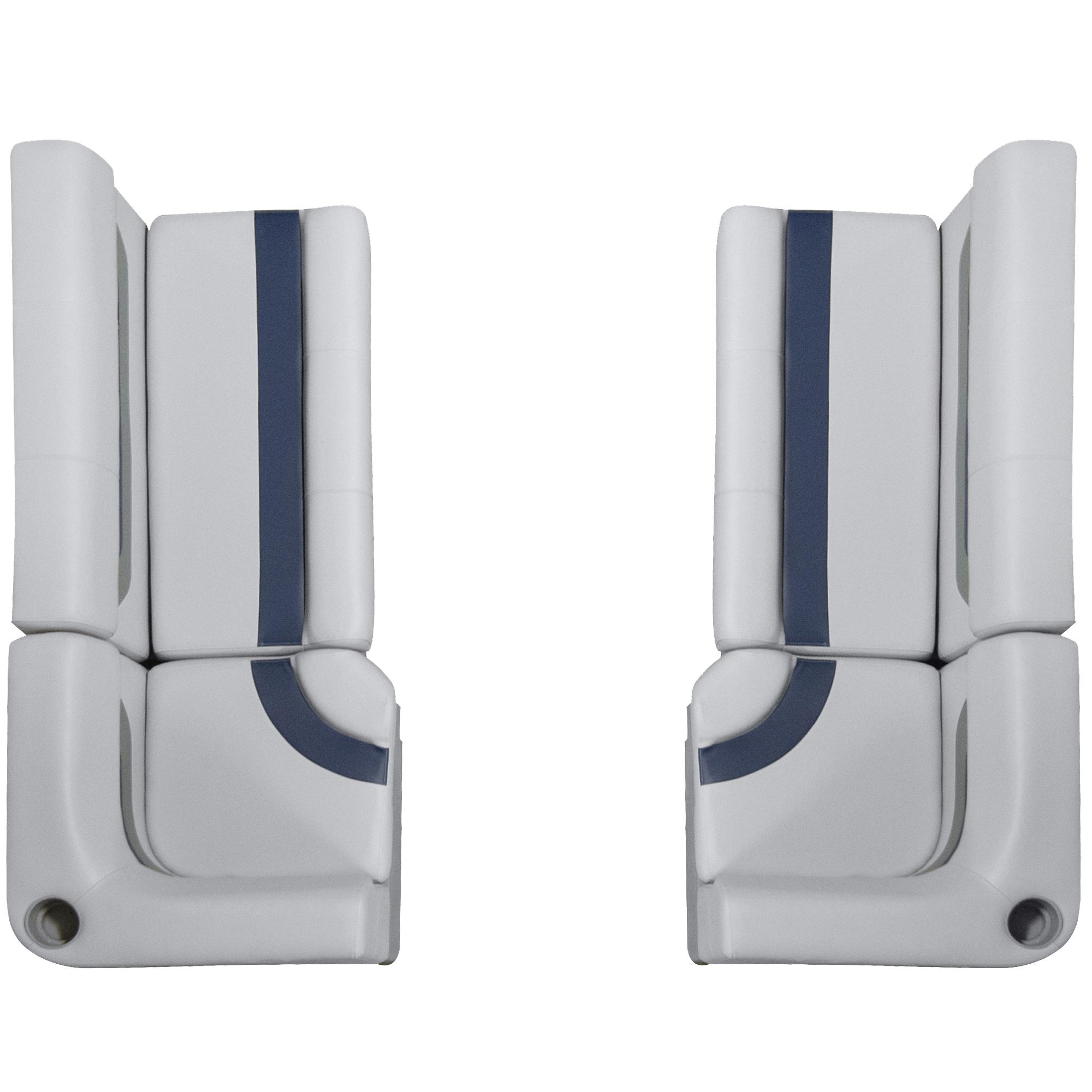 "Designer Pontoon Furniture - 61"" Front Seat Package, Sky Gray/Navy"