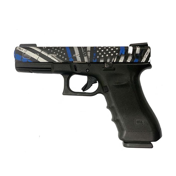 Used Glock 22 Gen4 .40 S & W Handgun Package, Thin Blue Line