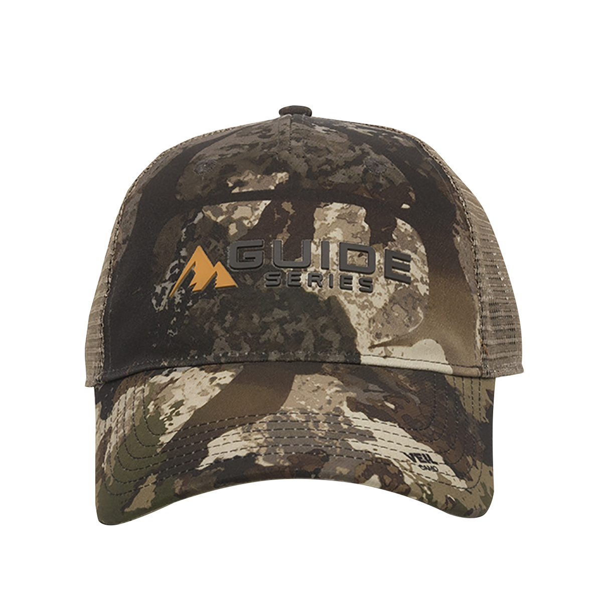 Guide Series Men's Logo 6-Panel Mesh-Back Cap, Veil Stoke Camo